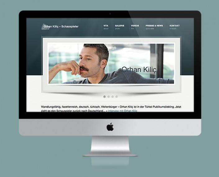 Webservice Plau - neuer Webauftritt für Schauspieler Orhan Kilic