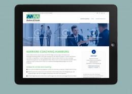 Webservice Plau hat die Landingpage für karriere-coaching.hamburg auf Basis von WordPress umgesetzt.