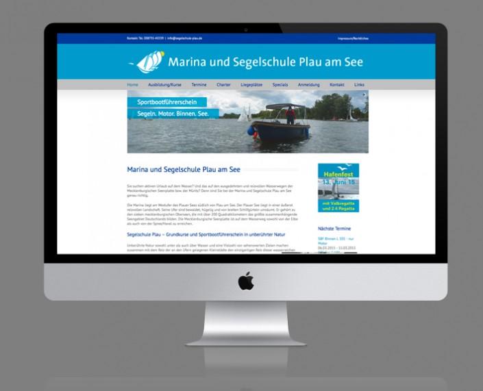 Webservice Plau hat die Website der Marina und Segelschule Plau am See auf Basis von WordPress umgesetzt.