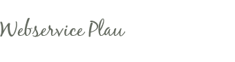 Webservice Plau